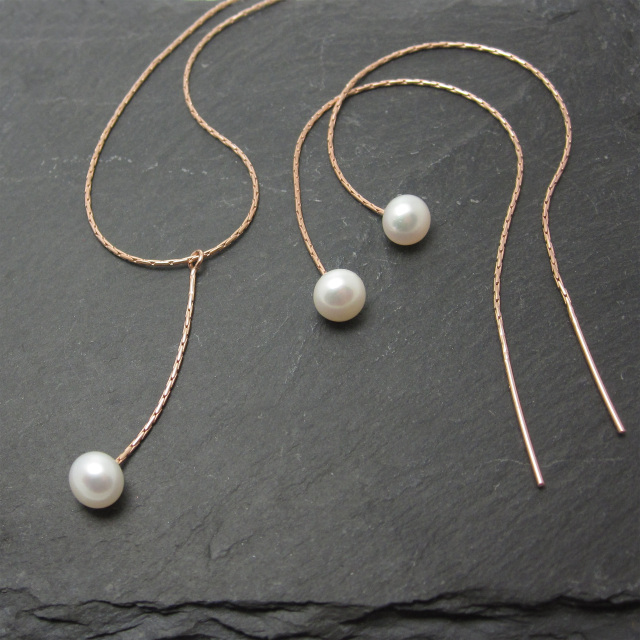 Silver and Rose Gold Pearl Jewellery Sets The Pearl Jewellery Sets