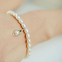 Calla Lily Pearl Wedding Jewellery