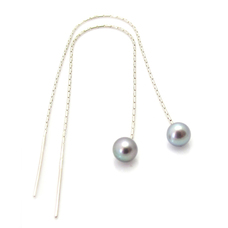 Pearl Through Earrings
